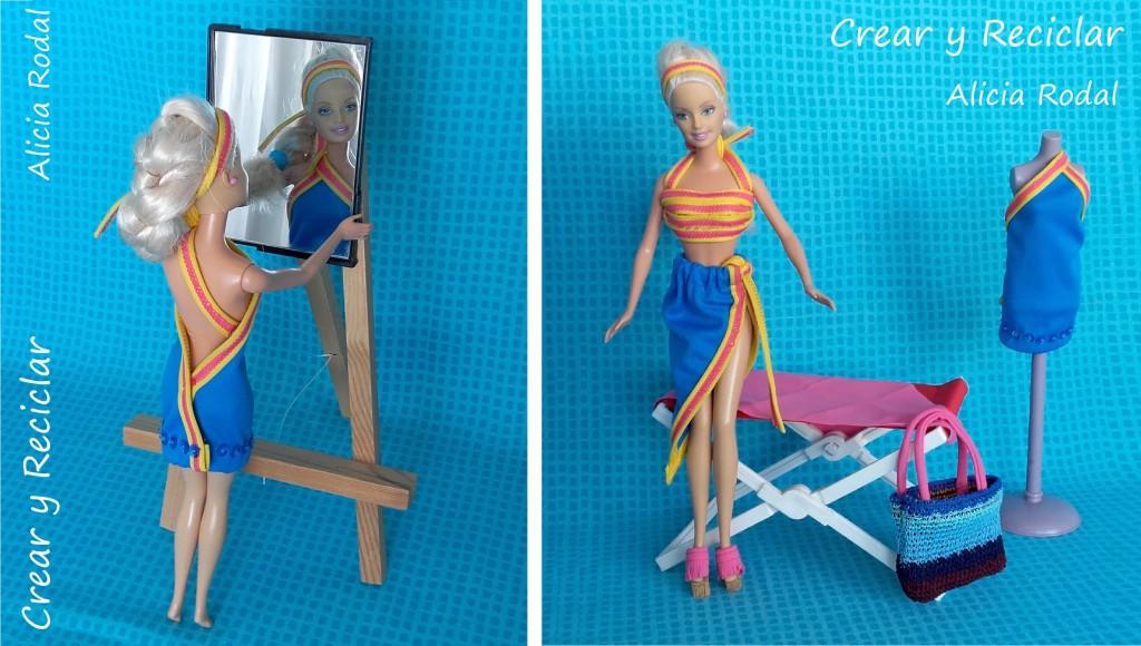 ropa muñecas reutilizar bikini