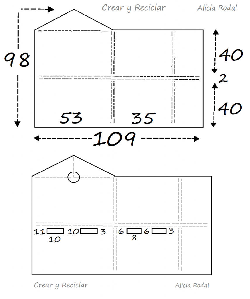 Cómo hacer una casa con cajas de cartón y otros materiales reciclados