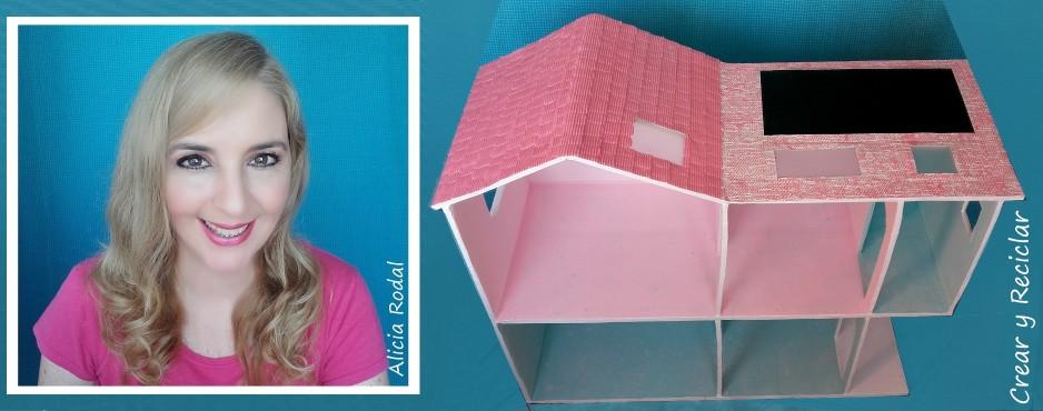 casa de mueñcas de cartón DIY
