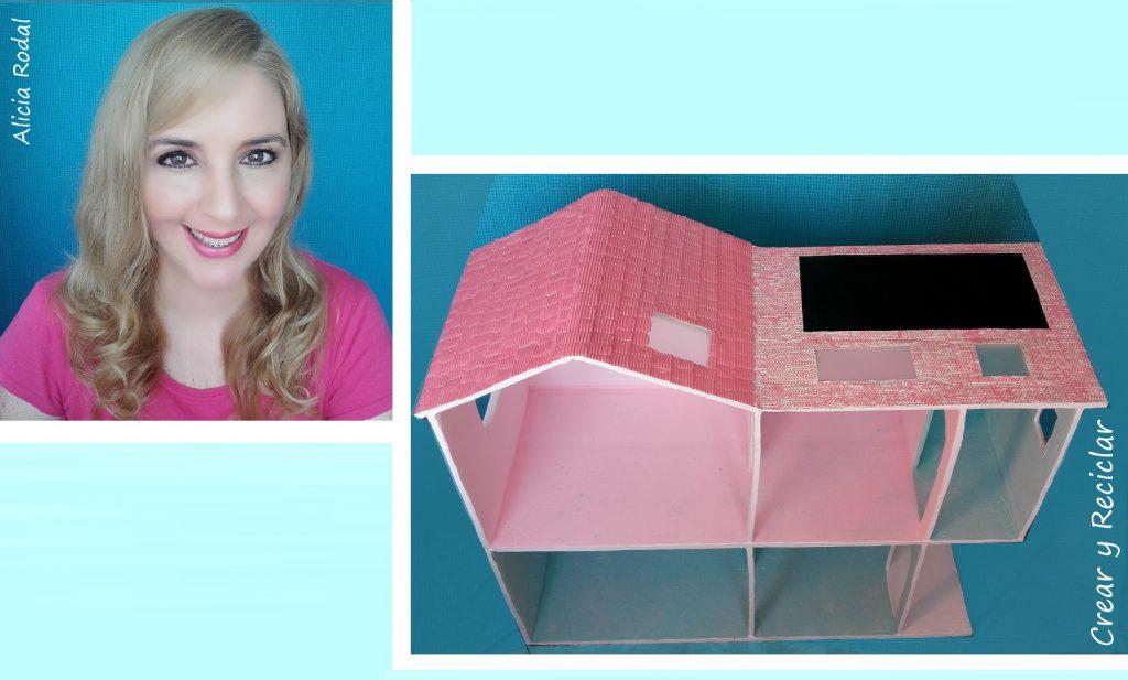 Cómo hacer una casa de muñecas con cajas de cartón y otros materiales reciclados. Techo y terraza
