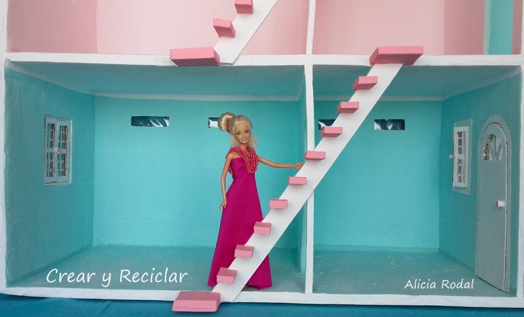 Como hacer las escaleras de cartón para la casa de muñecas