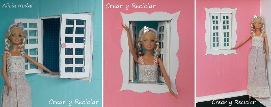 Ventanas casa de muñecas DIY