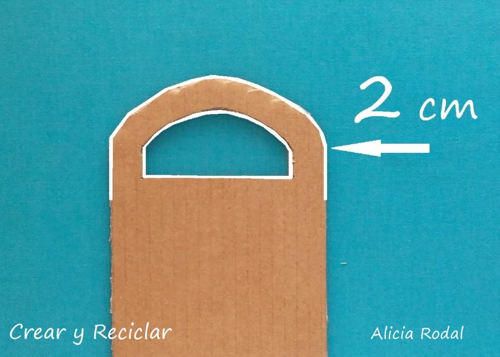 Medidas puerta de cartón casa de muñecas DIY