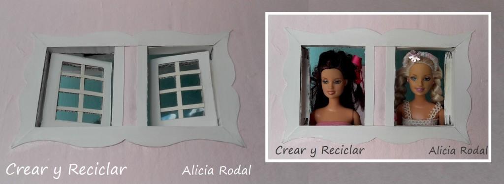 Ventanas de casa de muñecas de cartón DIY