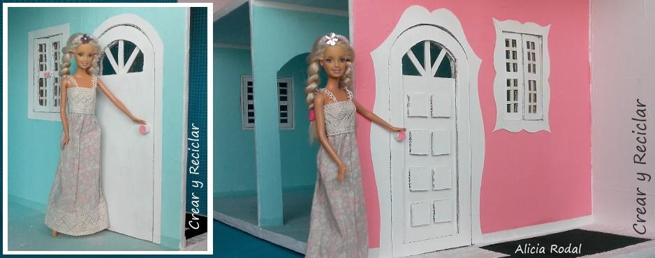 casa de muñecas de carton puerta DIY