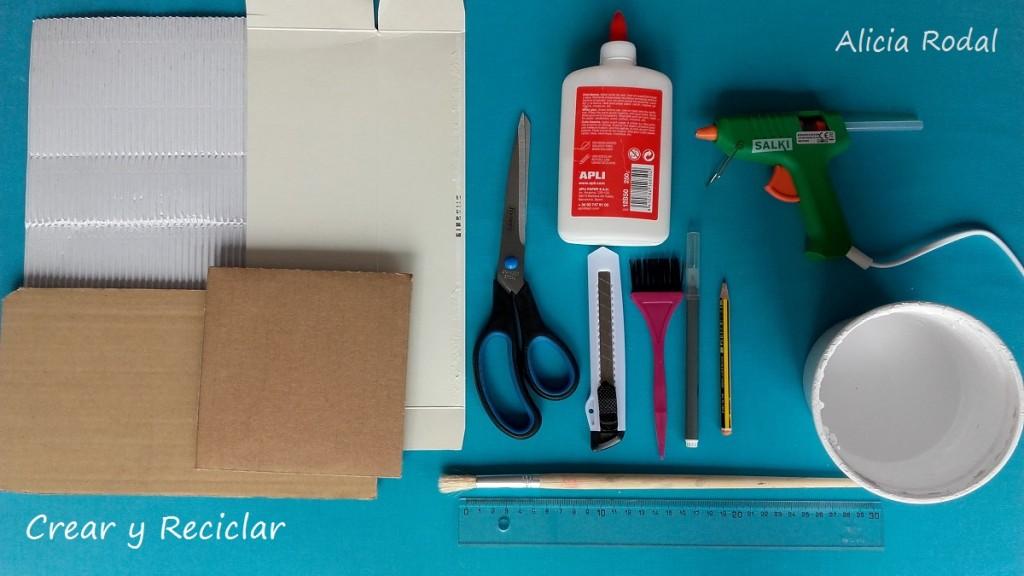 Materiales para banco de jardín casa de muñecas DIY