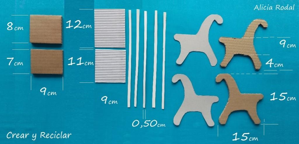 Materiales y medidas para banco de jardín casa de muñecas DIY