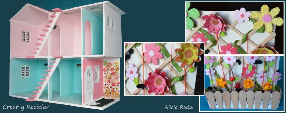 Mini jardín vertical para casa de muñecas DIY
