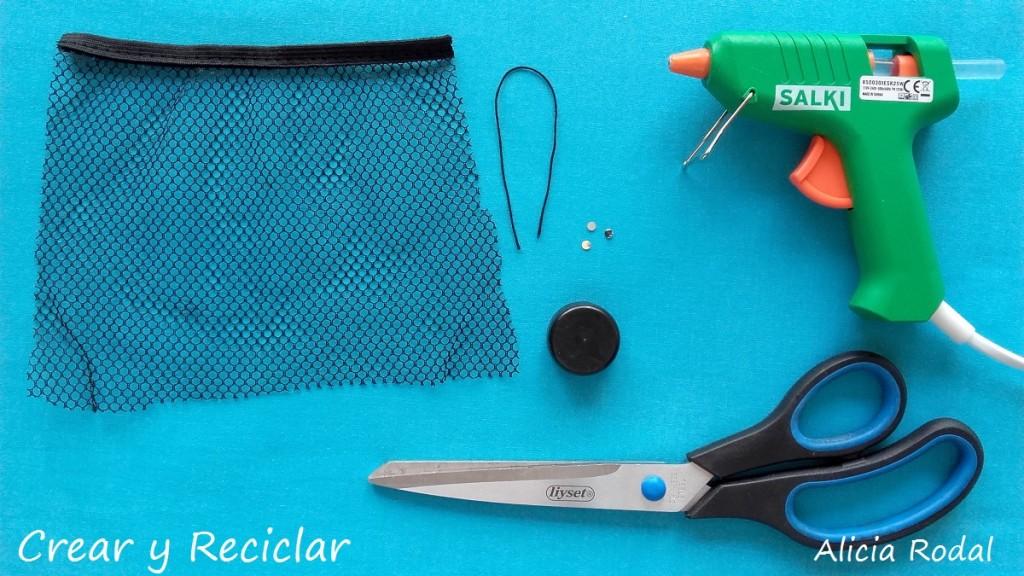 Materiales para tocado con rejilla gala fiesta navidad para muñecas DIY