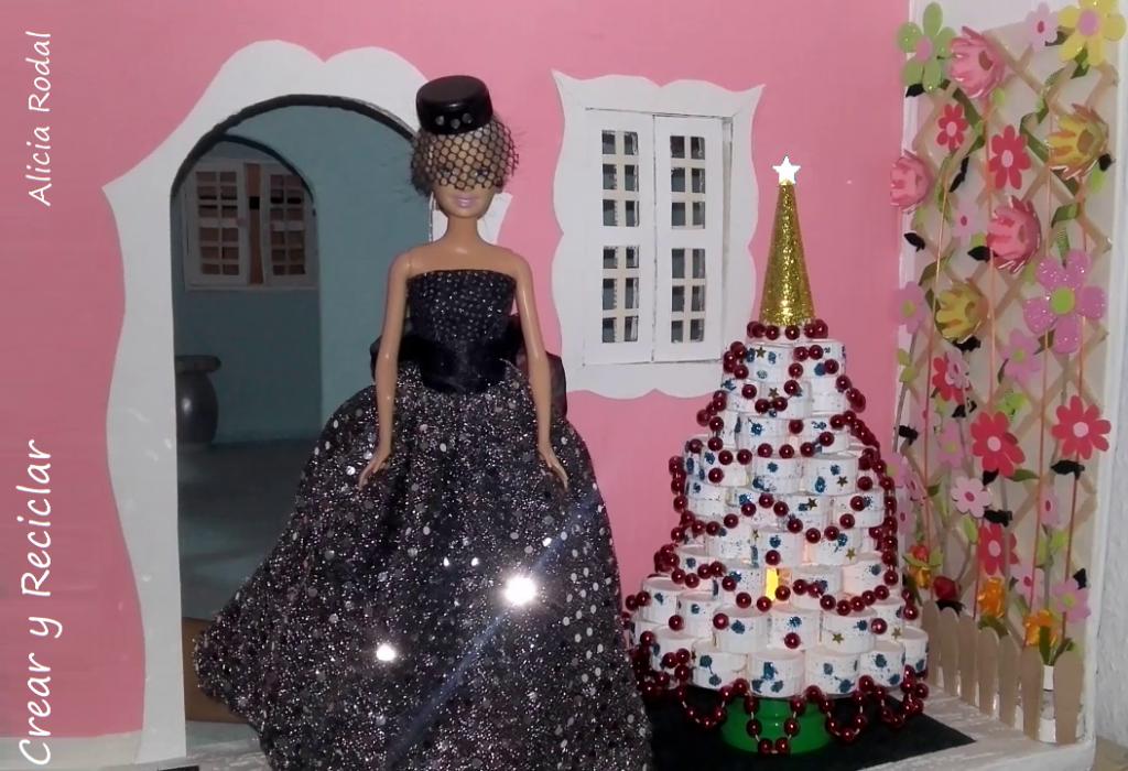 Mini arbolito de Navidad para muñecas DIY