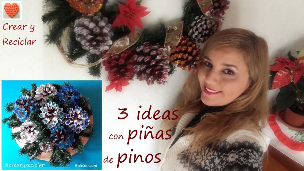 Ideas para Navidad con piñas de pinos DIY