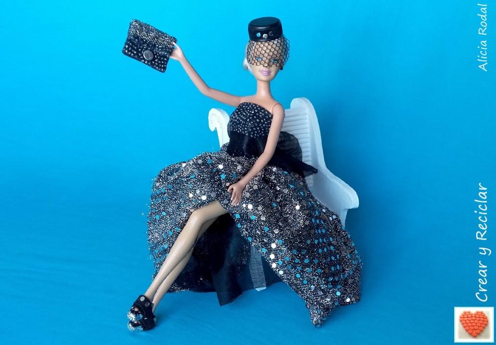 Zapatos y bolso de fiesta fácil para muñecas con reciclaje DIY