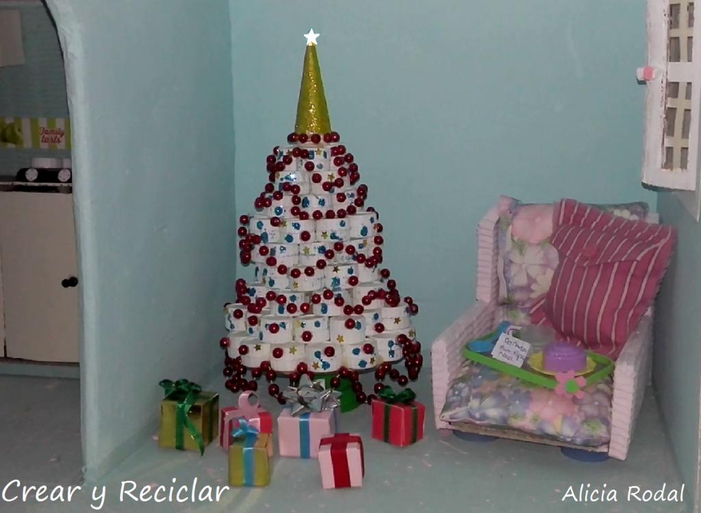 Mini cajitas de regalo para arbolito Navidad de muñecas DIY