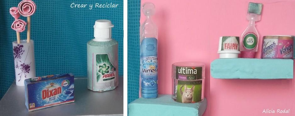 7 Miniaturas de productos para muñecas con reciclaje DIY