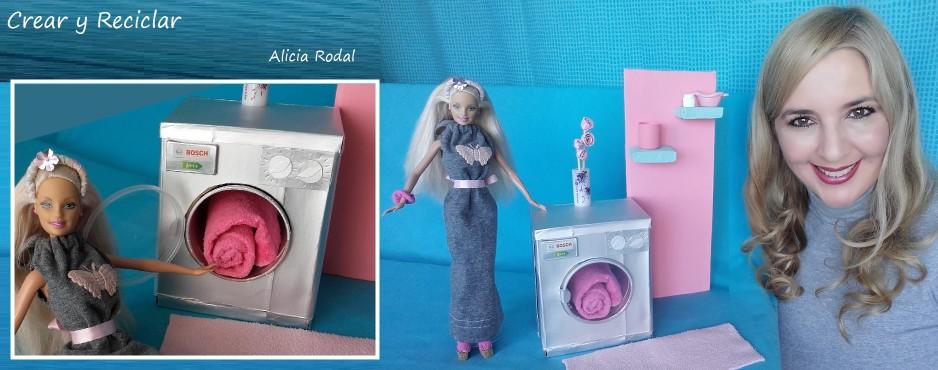 Lavadora para muñecas de cartón DIY
