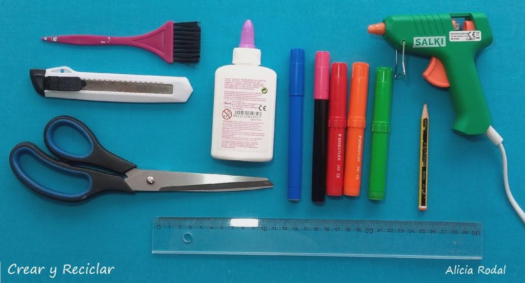 Materiales para Tocado sombrero para carnaval con reciclaje DIY