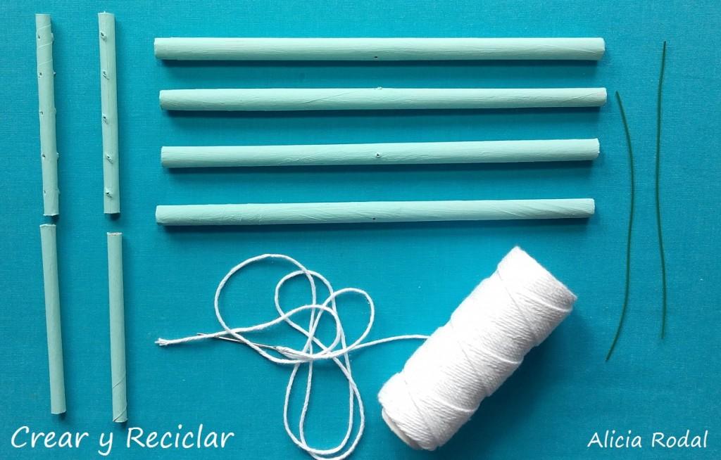Mini tendedero plegable de ropa para casa de muñecas con reciclaje DIY