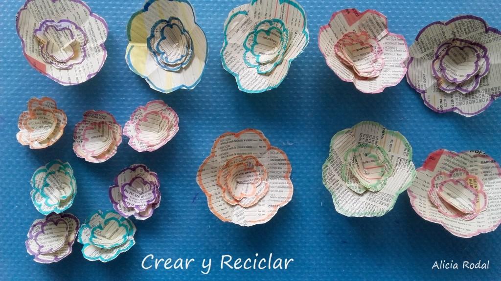 Flores para Tocado sombrero para carnaval con materiales reciclados DIY