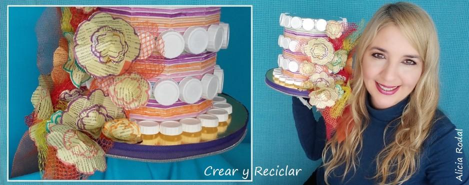 Tocado sombrero para carnaval con materiales reciclados DIY