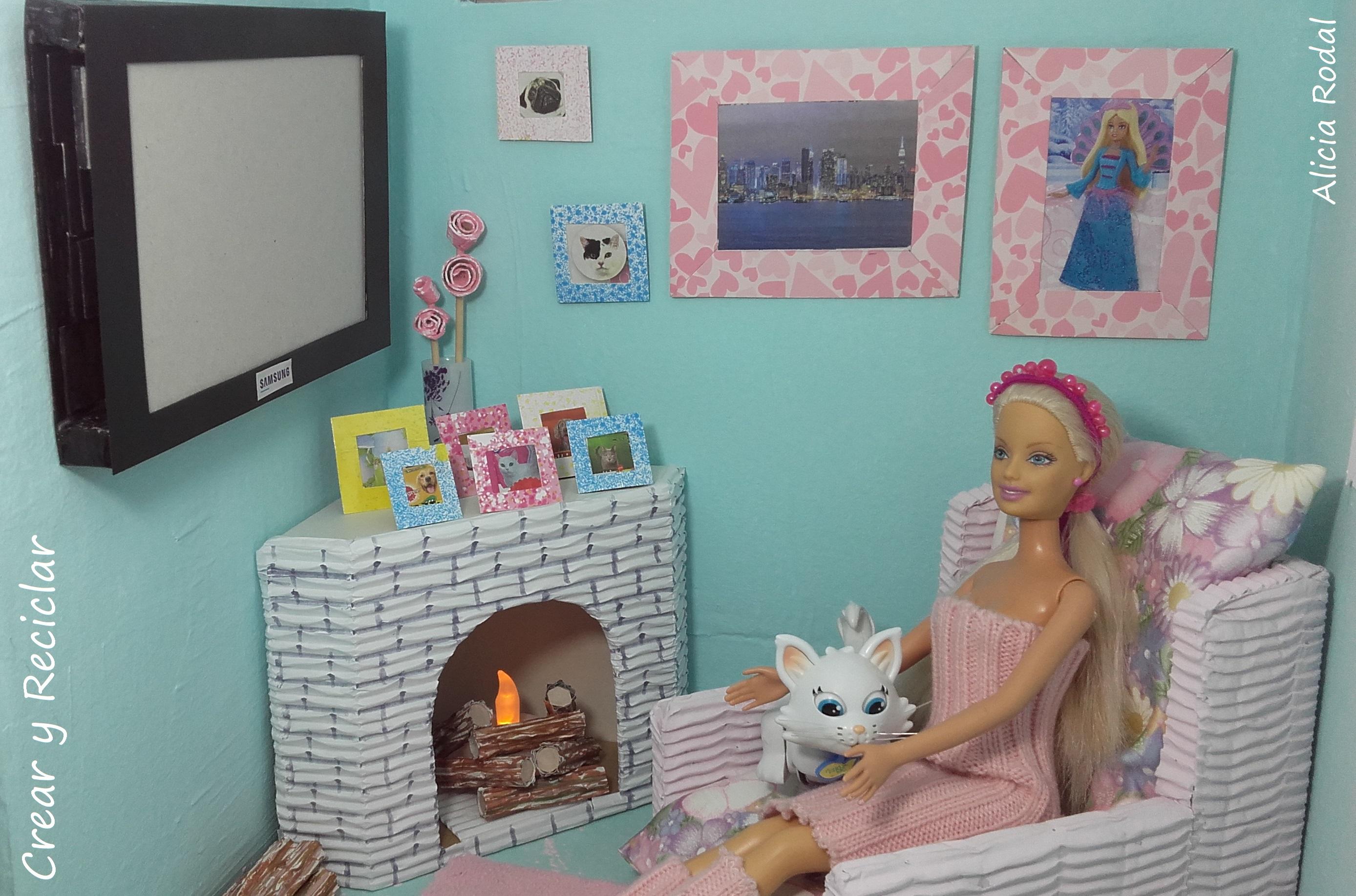 Decorar el salón de la casa de muñecas   Crear y Reciclar