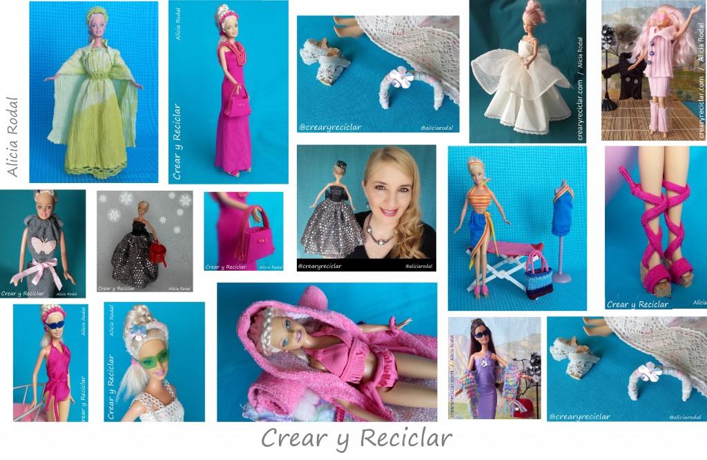 Ropa y complementos de moda para muñecas DIY hecho a mano CREAR Y RECICLAR