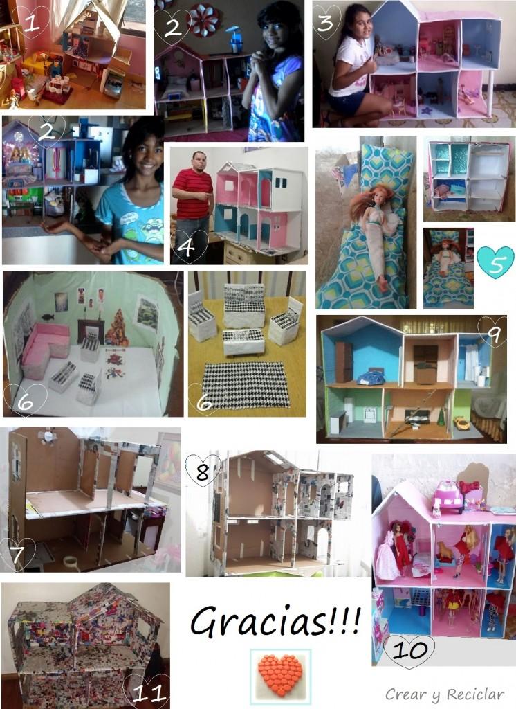 Casa de muñecas de cartón DIY hecho a mano CREAR Y RECICLAR