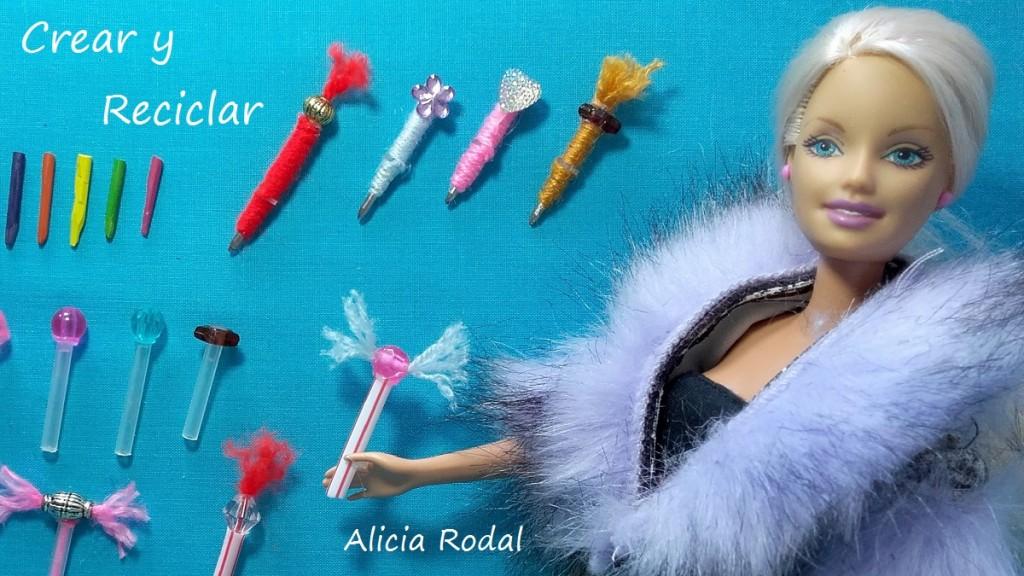 Material escolar para muñecas DIY ♻️