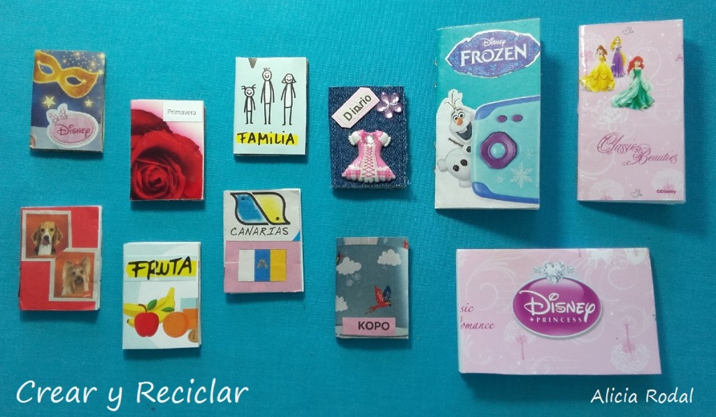 Mini libros, diario, cuadernos y blocks de dibujo DIY