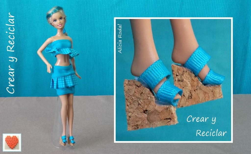 Ropa y complementos de moda para muñecas DIY con reciclaje