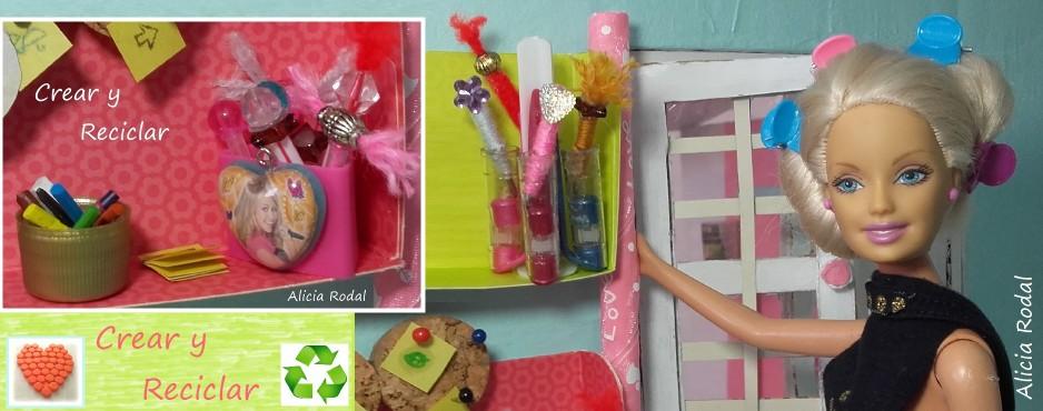 Mini organizadores de escritorio DIY con reciclaje
