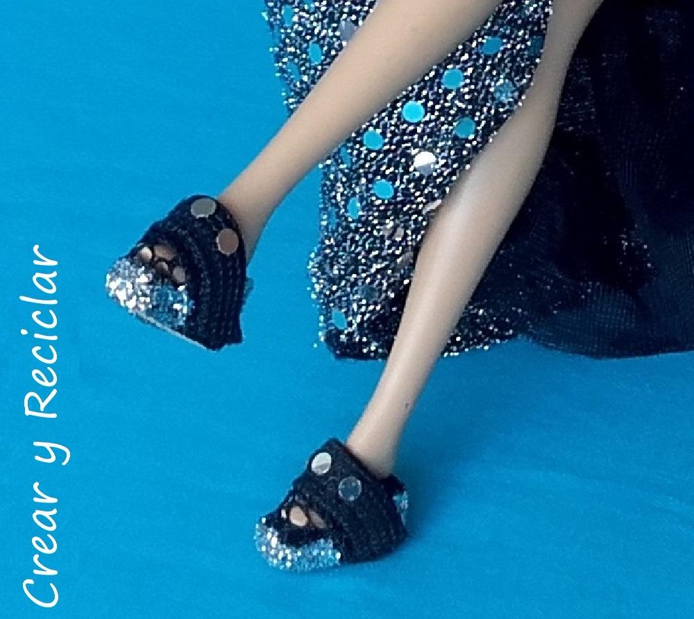 zapatos para muñecas con corcho DIY