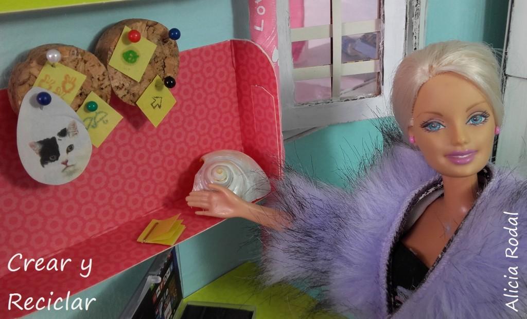 Miniaturas para el office: Silla, papelera y corcho DIY ♻️