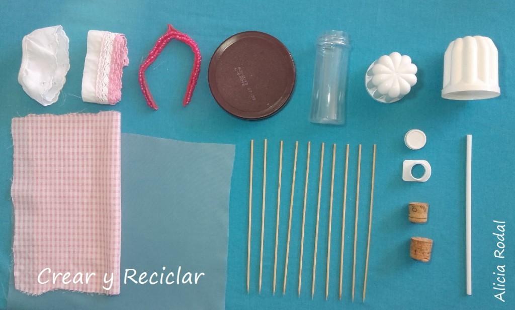 Mesa y sombrilla para la piscina de muñecas DIY