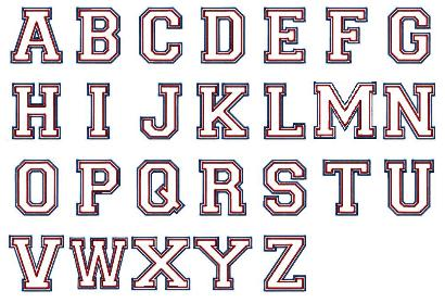 letras estilo universitario