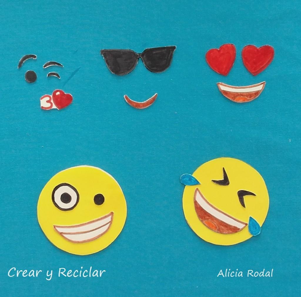 Organizador de escritorio portátil de emojis con imanes DIY con reciclaje
