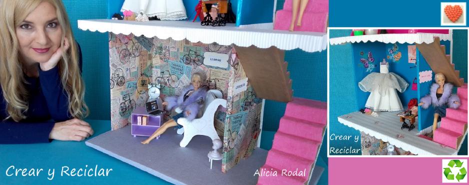 Centro comercial para muñecas DIY con reciclaje