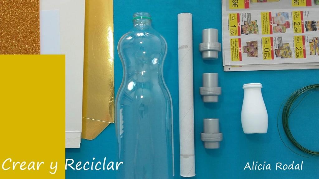 Lumiere DIY con reciclaje La Bella y La Bestia