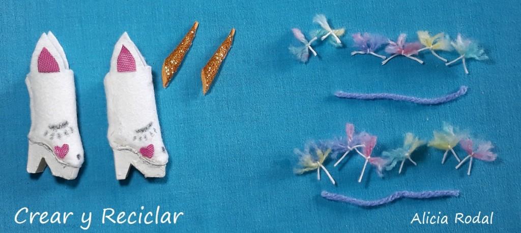 Botas arcoíris kawaii para muñecas DIY
