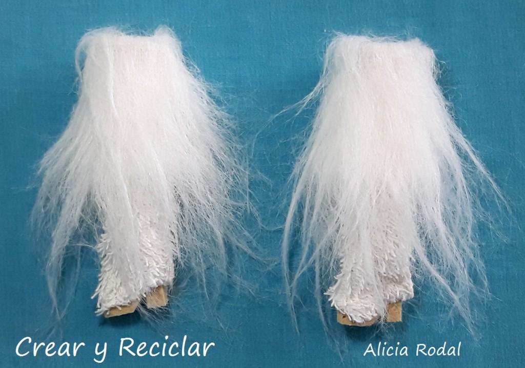 Conjunto ropa de invierno: Botas, chaqueta y funda para portátil o laptop DIY con reciclaje