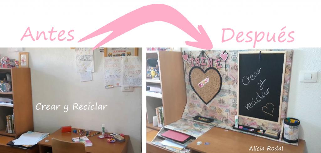 Como hacer un organizador de escritorio de cartón personalizado