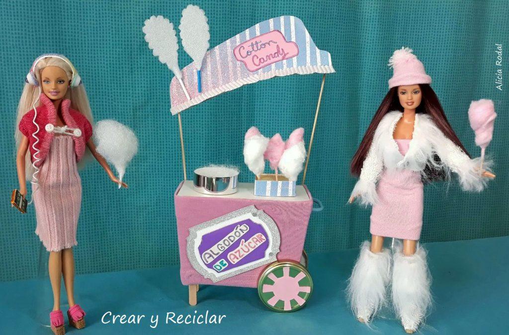 Algodón Para Diy Carrito Y Muñecas De Crear Azúcar Reciclar OXiPkZu
