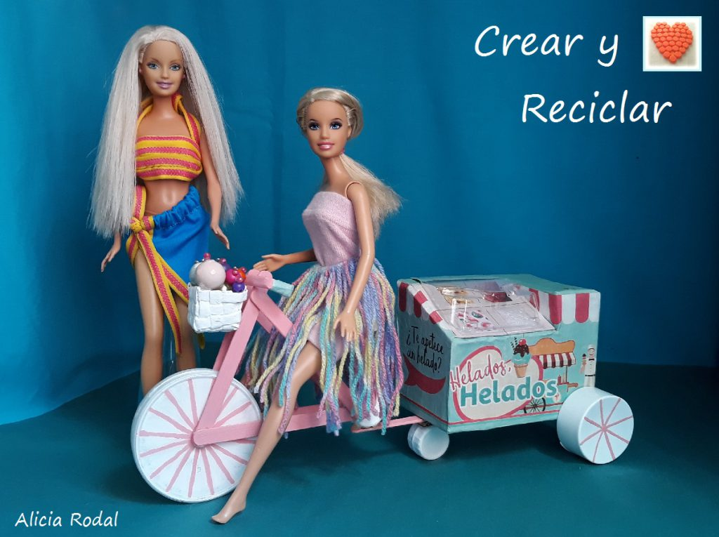 Como hacer una bicicleta y carrito de helados a la vez, ideas para muñecas