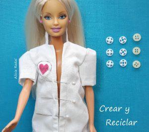 Cómo hacer un uniforme de doctora o médica veterinaria para las muñecas