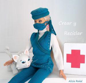 Cómo hacer paso a paso un uniforme de doctora o médica veterinaria cirujana