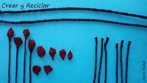Una idea muy fácil para transformar la vieja papelera de tu cuarto, en un diseño espectacular, una papelera de rosas rojas.