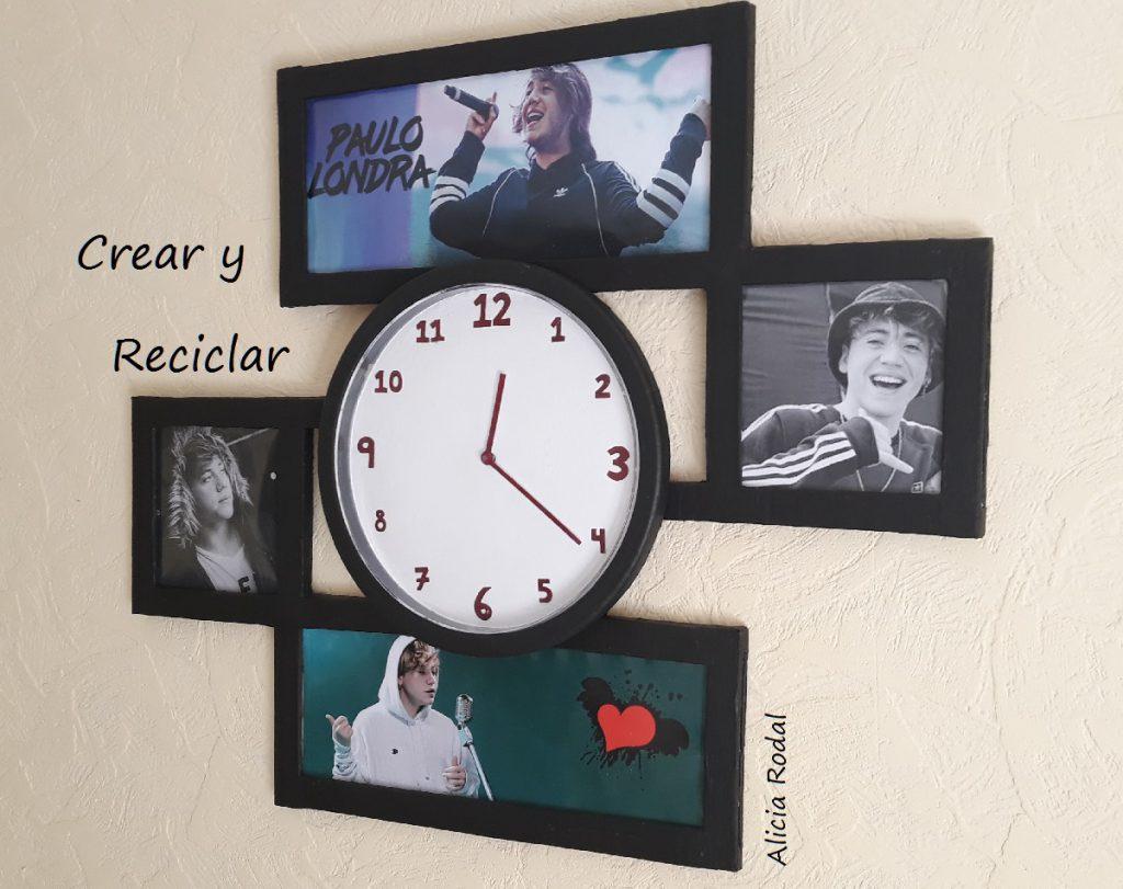 Como reutilizar o transformar un reloj de pared usado y convertirlo en un original portaretrato de Paulo Londra.
