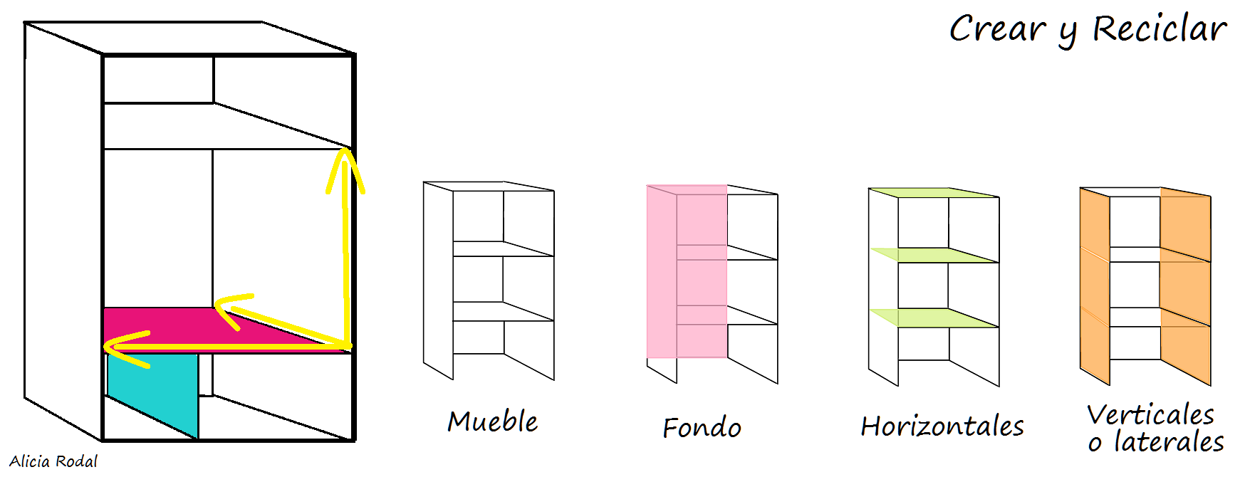 Cómo hacer un mueble estantería de cartón de 3 repisas para armario ropero, organizador, closet, guardarropa, aparador, cómoda / DIY.