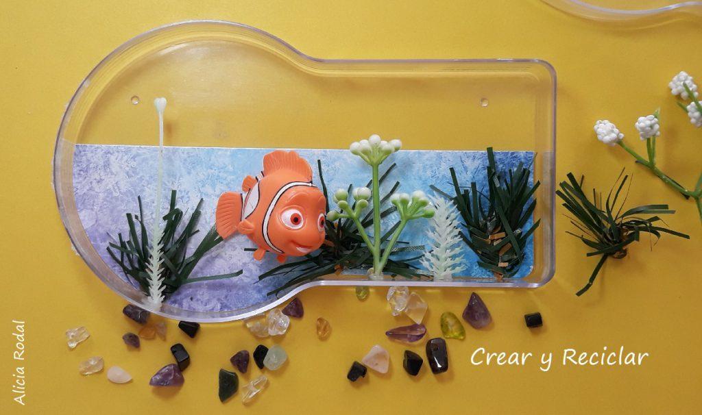 Miniaturas Veterinarias Báscula Pecera Y Carpeta Crear Y Reciclar