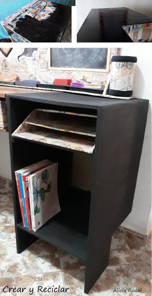 Como hacer un mueble y un cajón de cartón paso a paso, muy fácil.