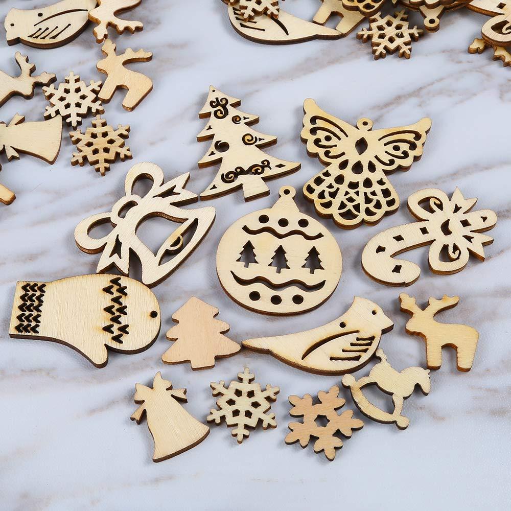 Lindos adornos de Navidad, de madera y hechos a mano, ideales para hacer manualidades, darle un toque único al regalo de esa persona especial o decorar el arbolito, la mesa o un rincón de tu hogar esta Navidad. Manualidades navideñas DIY